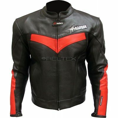 New MV Agusta Motorbike Racing Hand Made Leather Jacket With CE Protections