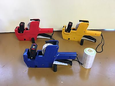 8 Digits Price Tag Gun Labeller + 2000 labels +1 Ink MX-5500 US Seller