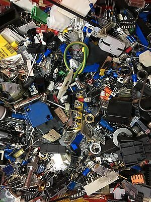 500g of Loose Assorted RS Electronic Components Transistors, IC's, Hardware etc