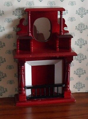 Lovely Mahogany Fireplace for the DOLLS HOUSE