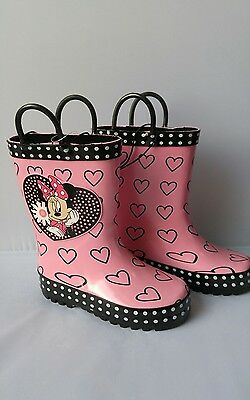 Girls Minnie Mouse Rubber boots Size 9