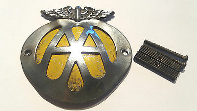 Vintage AA Car Badge, (Early?) UNUSUAL No Number Automobile Association Emblem