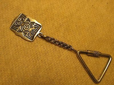 """Vintage Signed 925 Sterling Silver 3 3/4"""" Key Chain"""