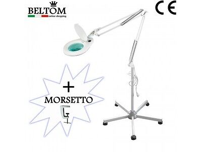 Floor Magnifier Magnifying Lamp Light 5 Diopter + Stand 5-spoke Tattoo Smart