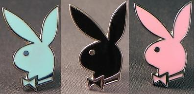 Playboy style Bunny head pin badge. Choice of colours. Metal lapel badge