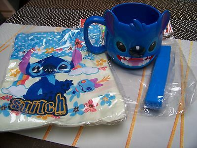 Disney - Lilo & Stitch - travel / Reis toothbrush set w. cup & bag - NEU