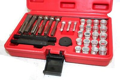 33pcs Cylinder Head Glow Plug Tap Thread Re-threading Repair Restore Tool Set