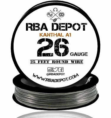 26 Gauge AWG Premium Kanthal Wire Alloy A1 Resistance Wire Roll 25 ft (Black)