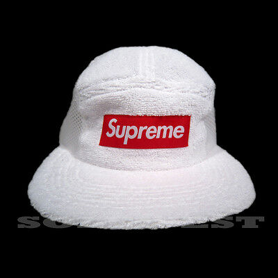4527850f Brand New Ss16 Supreme Terry Side Mesh Panel Camp Cap White Trusted Seller