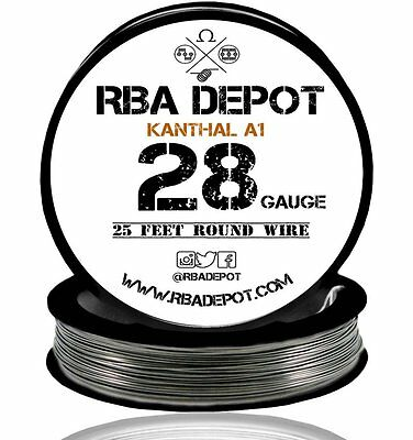28 Gauge AWG Premium Kanthal Wire Alloy A1 Resistance Wire Roll 25 ft (Black)