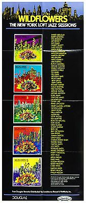 New York Jazz Sessions Windflowers 5 Poster 1977 New Album Promo 14 x 35