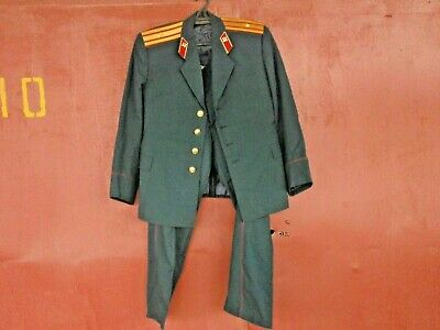 Vintage Russian Soviet Officer Army Jacket Trouser Military Uniform USSR
