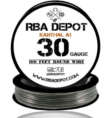 30 Gauge AWG Premium Kanthal Wire Alloy A1 Resistance Wire Roll 100 ft (Black)