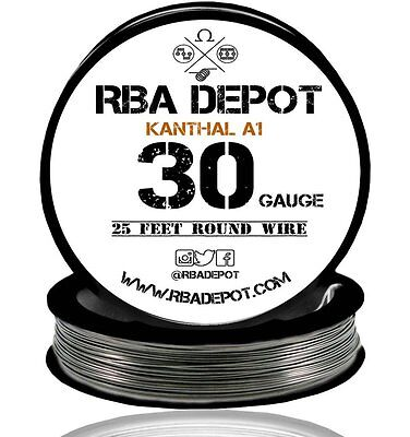 30 Gauge AWG Premium Kanthal Wire Alloy A1 Resistance Wire Roll 25 ft (Black)