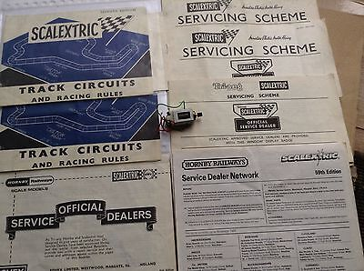 Scalextric Motor and Assorted Literature