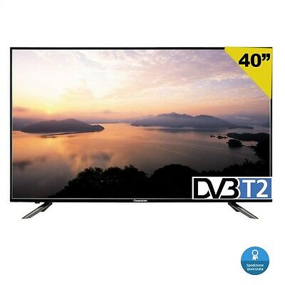 "Tv 40"" Changhong Led40D2100T2 Full Hd Dvb-T2 T C Pannello Samsung Hotel 32 37 42"