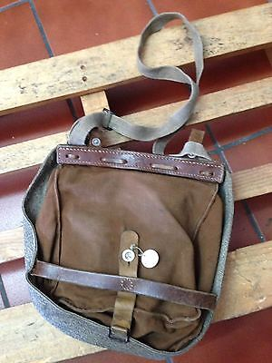 1946 Vintage Swiss Army Military Bread Bag Purse Hunting Fishing