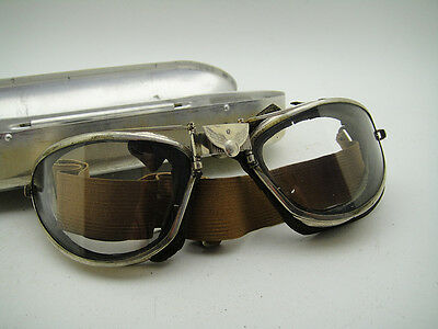 bb676a5ea4 B6 American Optical AO GOGGLES AVIATOR Vintage Pilot Aviation USAAF Flight  WW2