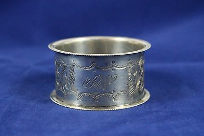 Antique Sterling Silver Birmingham 1938 Napkin Ring