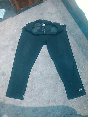 Mens North Face Black Fleece Tracksuit Hiking Trousers XL