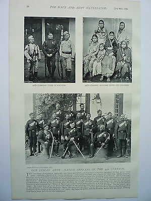 """"""" NATIVE OFFICERS OF THE 44th GURKHAS.""""  1896."""