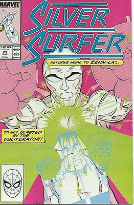 SILVER SURFER 21 ( Marvel 1989 ) High grade NM condition. ROGERS art