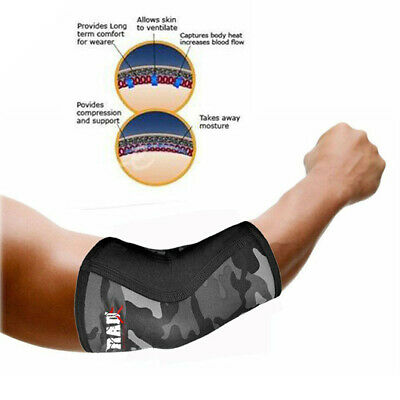 2Fit Neoprene Elbow Support Arm Brace MMA Bandage Wrap Sports Pain Injury RelieF