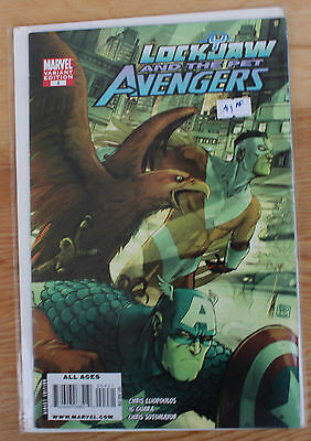 Lockjaw and the Pet Avengers Captain America 4 Variant Edition Marvel 2009