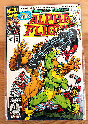 Alpha Flight #118 (Mar 1993, Marvel) The Clampdown Part 1 of 3