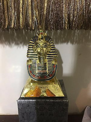 Tutankhamun  Bust iron and metal  Egyptian souvenir
