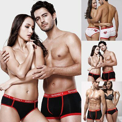 Men Women Lovers Couple Underwear Boxer Briefs Shorts Panties Knicker Underpants