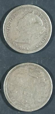 1871  Canada 10 cent SILVER -  Solid GOOD   stk#2a35