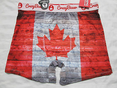 CRAZY BOXER Mens Up Worth Collection CANADIAN FLAG Print Underwear Boxer Brief
