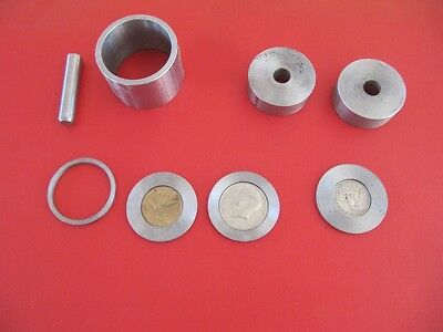 Coin Ring Center Punch Tool 7/16'' With 4 Spacers 25C,50C, Modern Dollar&morgan!