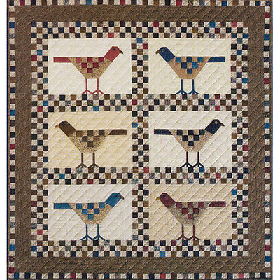 CHECKERBOARD BIRDS QUILT QUILTING PATTERN, Applique From The City Stitcher NEW