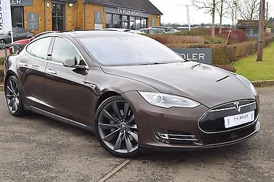 2014 Tesla Model S AUTO Electric brown Automatic