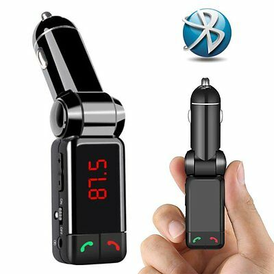 UK Hands-Free Bluetooth Car Kit Mp3 Player Usb Disk Aux FM Transmitter  Charger