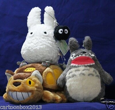 My Neighbor Totoro bus black totoro Soft Doll Plush Stuffed (1 Set of 4)  toys