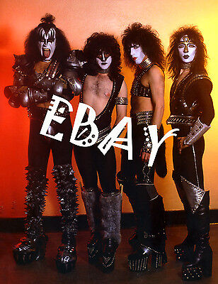 Kiss group photo with Vinnie Vincent and Eric Carr rare A1