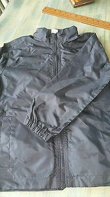 size 5-6  boys or girls school  spray jacket raincoat with hood navy or black