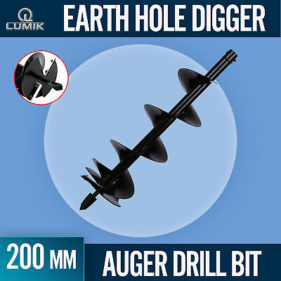 200mm /1M AUGER 20mm DRIVE for POST HOLE EARTH DIGGER FENCE DRILL BIT with BLADE