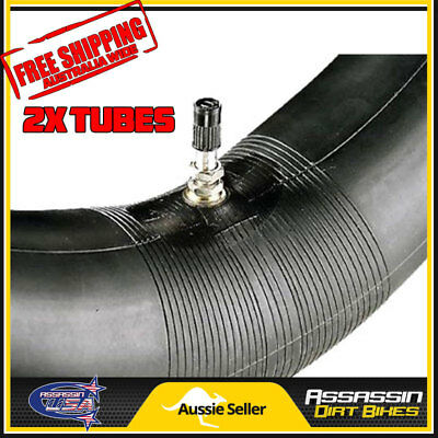 2x 10 inch 10'' 2.50-10 Dirt Bike Mini Bike Pit Bike Tube 2.50