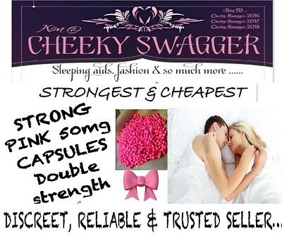 300x Strong Sleep Aid Sleeping Pills Tablets 50mg Pink Capsules SALE ENDS SOON