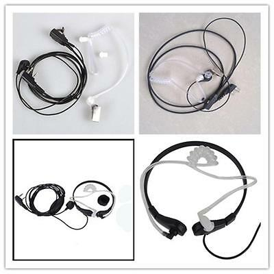 Throat Mic Earphone Earpiece Headset Headphone K Finger For Baofeng UV-5RRadio -
