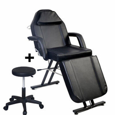 Deluxe Beauty Salon Chair Balance Massage Bed Tattoo Facial Bed Couch W/Stool UK
