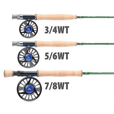 Maxcatch 3/4/5/6/7/8WT Fly Fishing Rod Combo Fast Action IM10 Fly Rod & Fly Reel