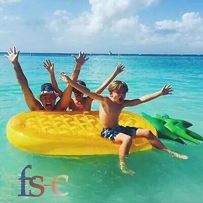 Swimming Pool Giant Pineapple Inflatable Raft Float Lounger 6ft Fun Swim Ring