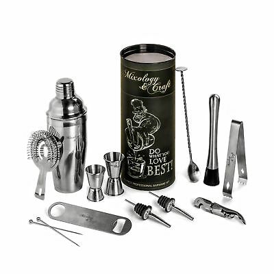 Mixology Bartender Kit: 12-Piece Bar Set For an Awesome Drink Mixing E... NO TAX