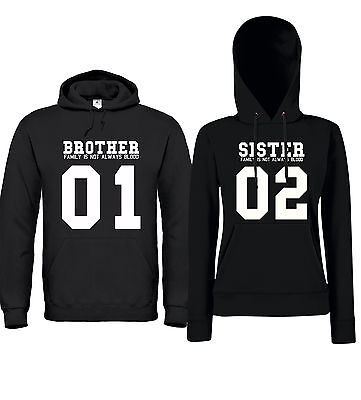 636a019bef62 BROTHER + SISTER 01 02 FAMILY - Partner Hoodies - Friends Freunde  Geschwister