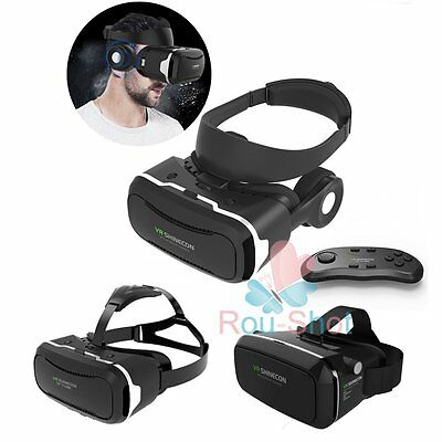 VR SHINECON Virtual Reality 3D Movie Game Glasses+Remote For iPhone Samsung【AU】